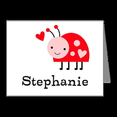 Ladybug (p) Note Cards (Pk of 10)
