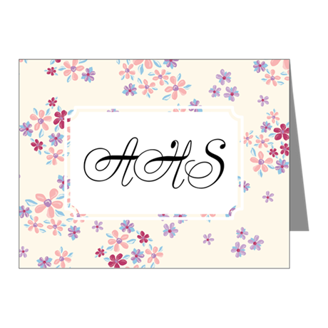 Flower Liberty White Note Cards (Pk of 10)