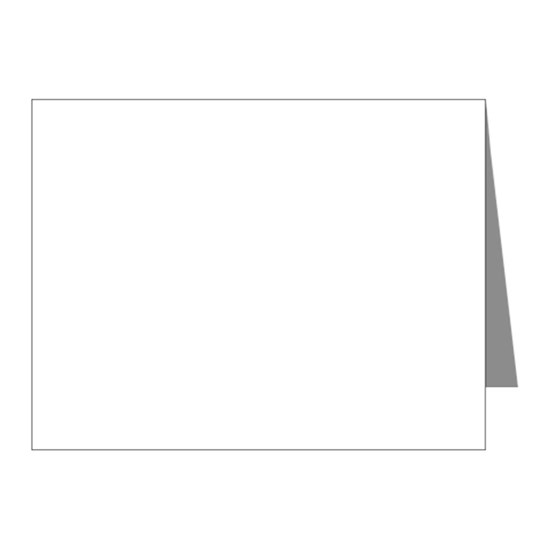 Bd Unicorn2a Invitation Note Cards Pk Of 10 Rainbow Unicorn 4th