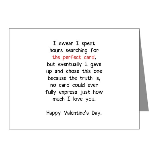 The Perfect Valentine's Day Card Note Cards (Pk of 10)