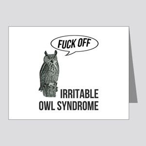 Irritable Owl Syndrome Note Cards (Pk of 20)