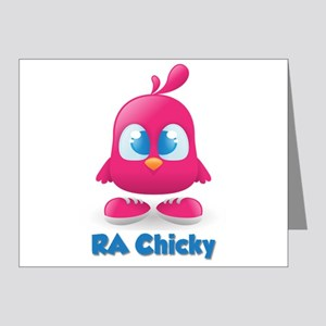 RA Chicks Cute Pink Chicky Note Cards (Pk of 20)