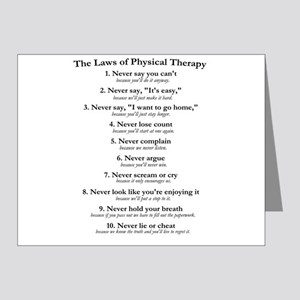 Laws of P.T. Note Cards (Pk of 20)