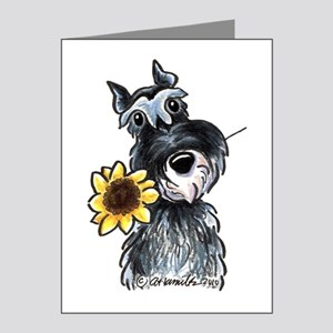 Sunflower Schnauzer Note Cards (Pk of 20)
