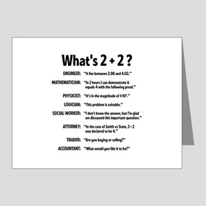 2 plus 2 Note Cards