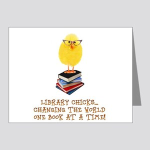 library chick Note Cards