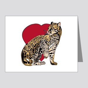 Cheetah Stickers Clothing Accessories H Note Cards