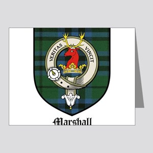 Marshall Clan Crest Tartan Note Cards (Pk of 20)