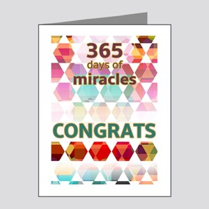 1 Year (miracle) Note Cards
