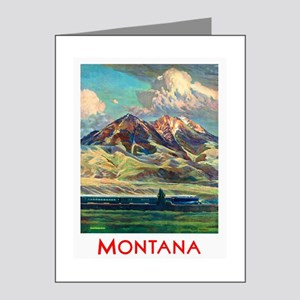 Montana Travel Poster 4 Note Cards (Pk of 20)