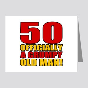 Grumpy 50th Birthday Note Cards (Pk of 20)