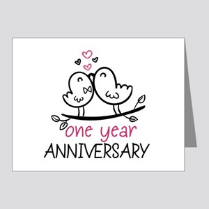 1st Anniversary Cute Couple Note Cards (Pk of 20)