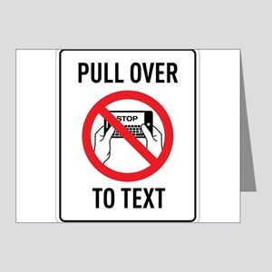 Pull OverTo Text Note Cards