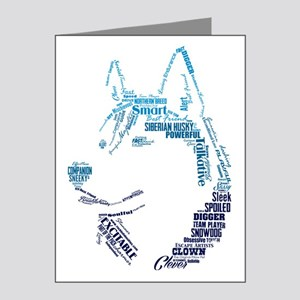 Husky Words Note Cards (Pk of 20)