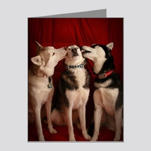 Kissing Huskies Note Cards (Pk of 20)