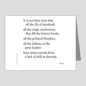 Moliere on Dance Note Cards (Pk of 20)
