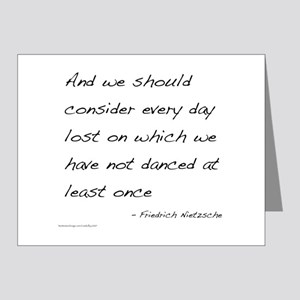 Nietzsche on Dance Note Cards (Pk of 20)