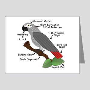 Anatomy of an African Grey Parrot Note Cards