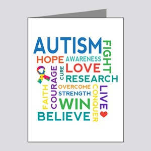 Autism Word Cloud Note Cards (Pk of 20)