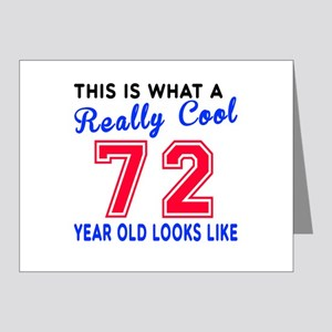 Really Cool 72 Birthday Desi Note Cards (Pk of 20)