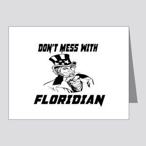Do Not Mess With Floridian Note Cards (Pk of 20)