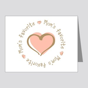 Mom's Favorite Girl Heart Note Cards (Pk of 20)