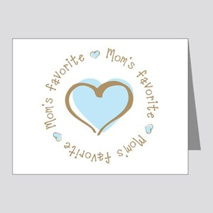 Mom's Favorite Boy Heart Note Cards (Pk of 20)