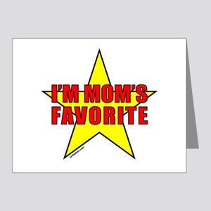 I'M MOM'S FAVORITE Note Cards (Pk of 20)