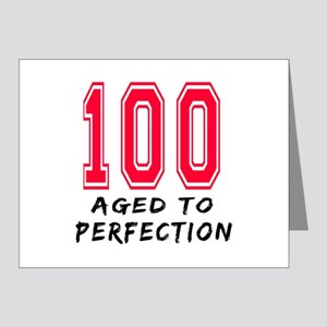 100 Year birthday designs Note Cards (Pk of 20)