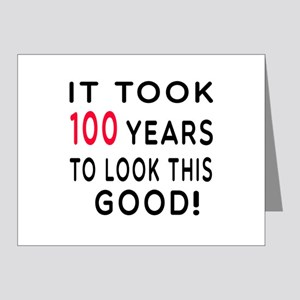 It Took 100 Birthday Designs Note Cards (Pk of 20)