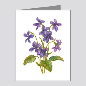 Purple Violets Note Cards