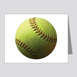 Yellow Softball Note Cards (Pk of 20)