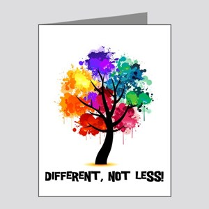 Different, not less! Note Cards (Pk of 20)