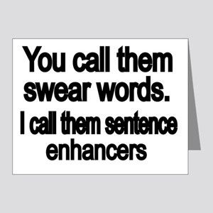You call them swear words Note Cards (Pk of 20)