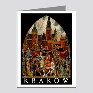 Vintage Krakow Poland Travel Note Cards (Pk of 20)