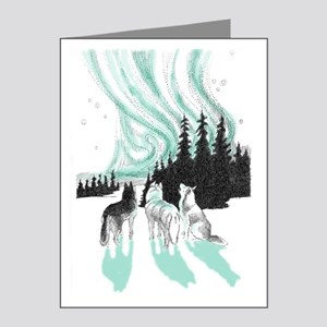 Siberian aurora Note Cards (Pk of 20)