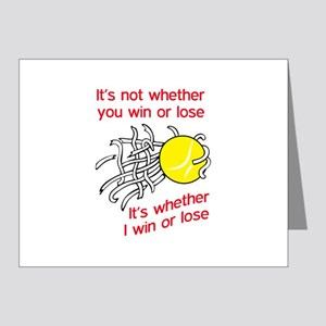 WIN OR LOSE TENNIS Note Cards