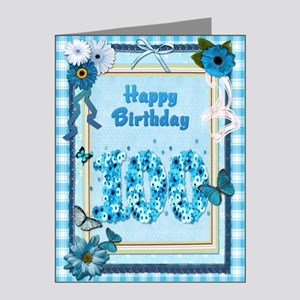 100th birthday craft-look ca Note Cards (Pk of 20)