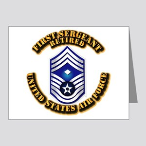 USAF - 1stSgt (E9) - Retired Note Cards (Pk of 20)