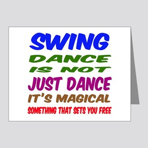 Swing dance is not just danc Note Cards (Pk of 20)