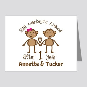 Funny 1st Anniversary Personalized Note Cards