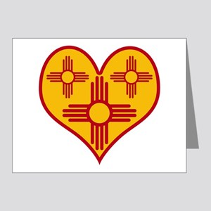 New Mexico Zia Heart Note Cards (Pk of 20)