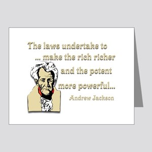 Andrew Jackson on the law Note Cards (Pk of 20)