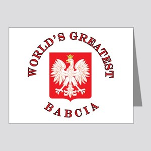 World's Greatest Babcia Crest Note Cards (Pk of 20
