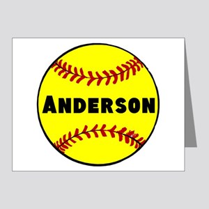 Personalized Softball Note Cards (Pk of 20)