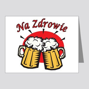 Na Zdrowie Toast With Beer Mugs Note Cards (Pk of