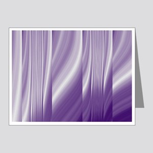abstract purple grey Note Cards