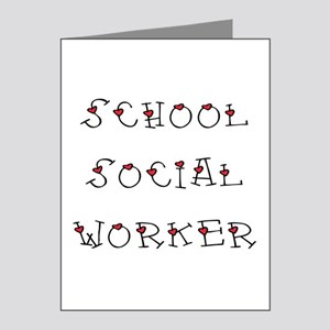 School SW Hearts Note Cards (Pk of 20)