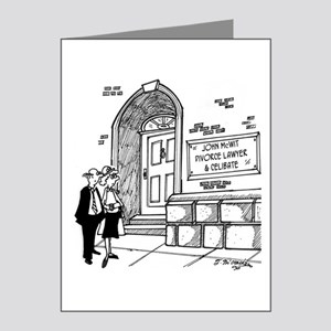 Divorce Lawyer is Celibate Note Cards (Pk of 20)
