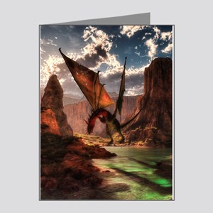Fantasy dragon in the mountains Note Cards